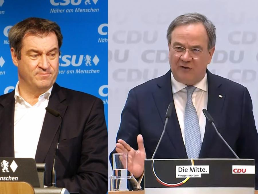 Laschet und Söder nehmen an Unionsfraktionssitzung teil