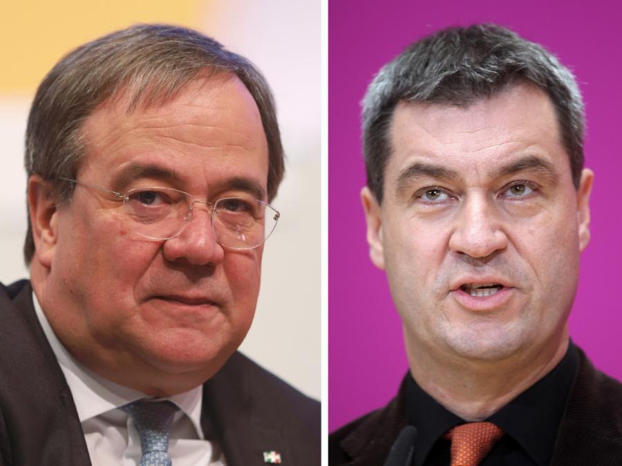 Laschet und Söder liefern sich in Unionsfraktion Rededuell