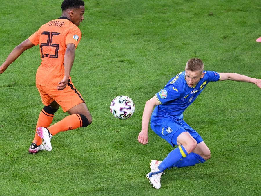 Fußball-EM: Niederlande gewinnen gegen Ukraine