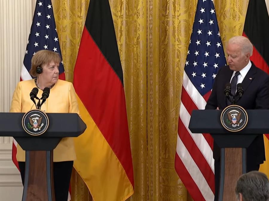 Merkel verteidigt in Washington Nord Stream 2