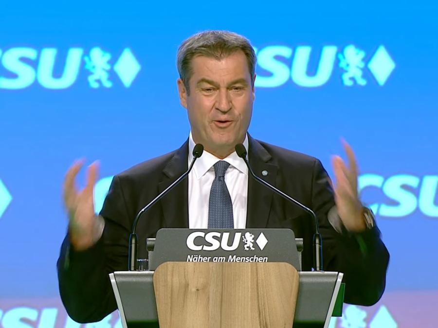 Söder mit schlechterem Ergebnis als CSU-Chef wiedergewählt