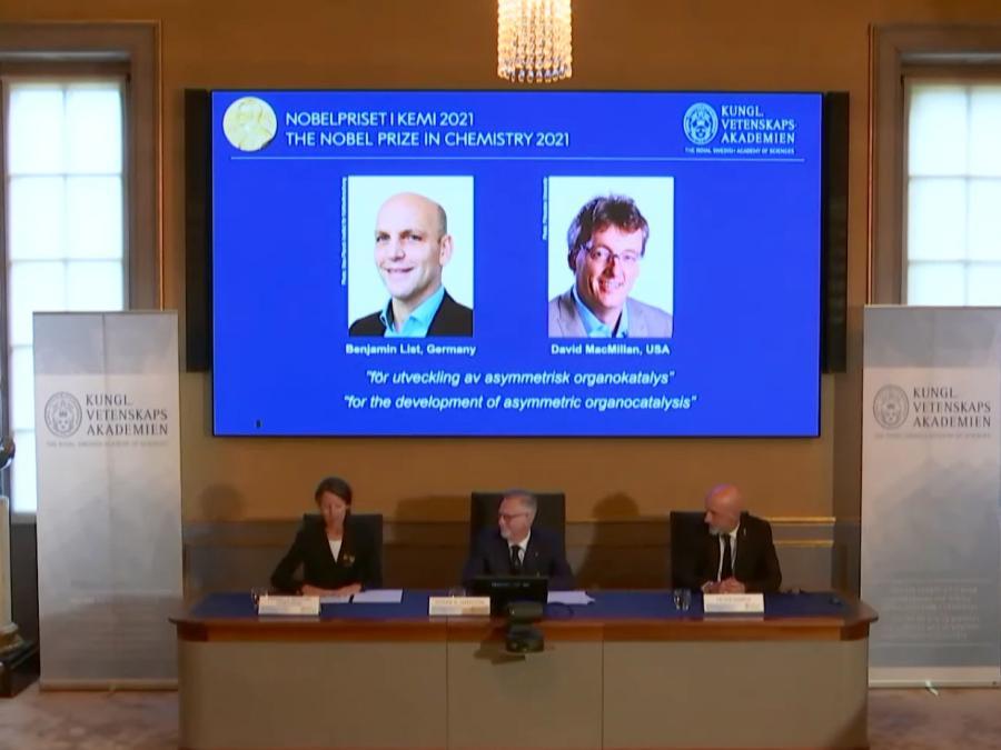 Chemie-Nobelpreis für Entwicklung der asymetrischen Organokatalyse
