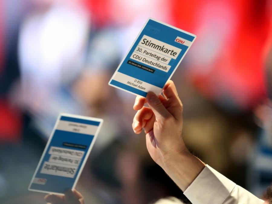 CDU-Parteitag segnet Koalitionsvertrag ab
