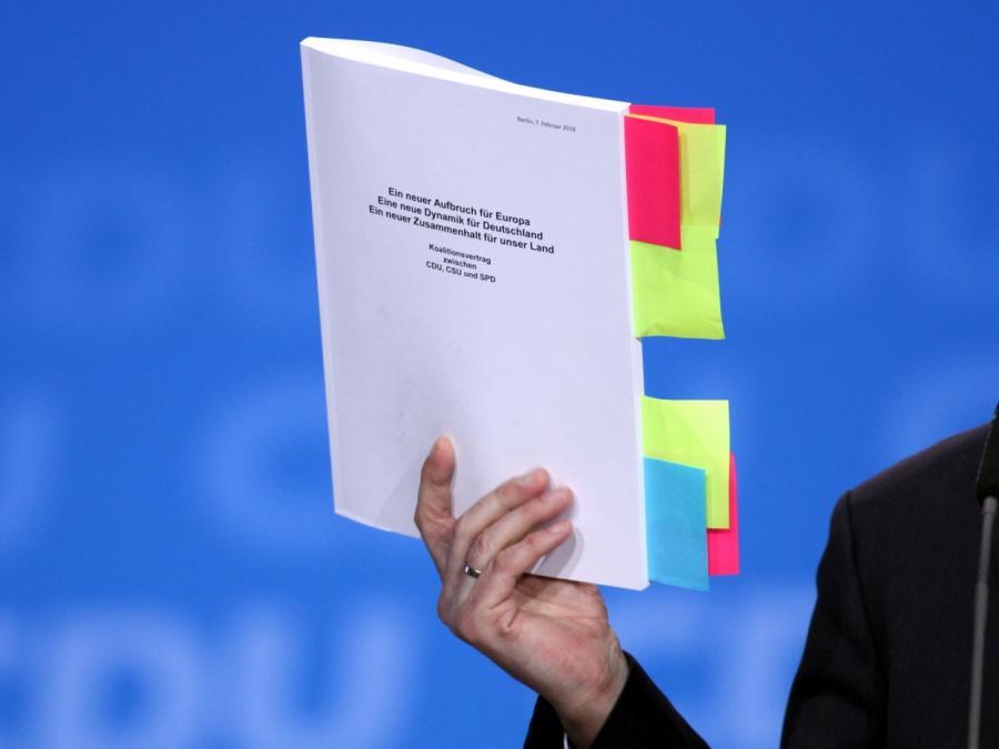 Union und SPD wollen Koalitionsvertrag erneuern