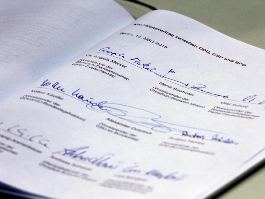 Union schließt Nachverhandlung am Koalitionsvertrag nicht mehr aus