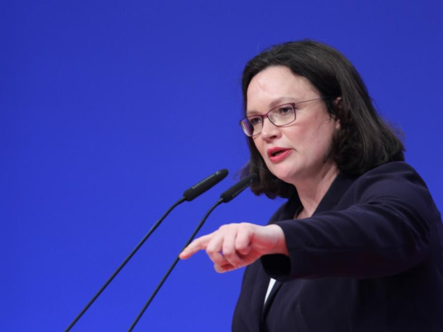 Nahles will Reform der sozialen Sicherungssysteme