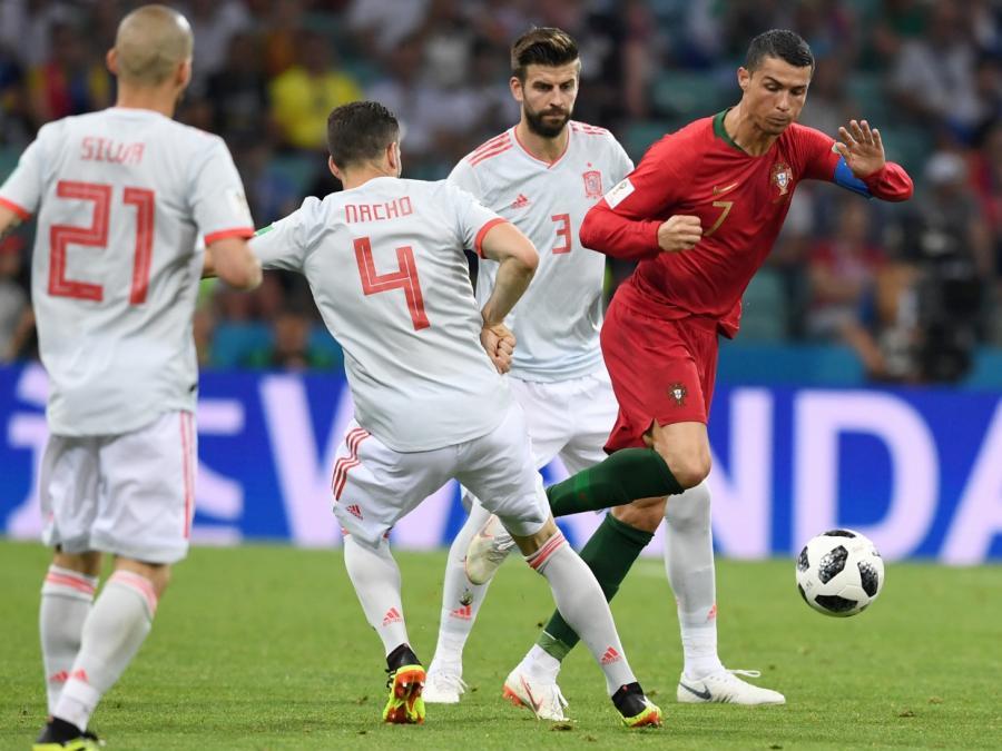 Fußball-WM: Portugal und Spanien unentschieden