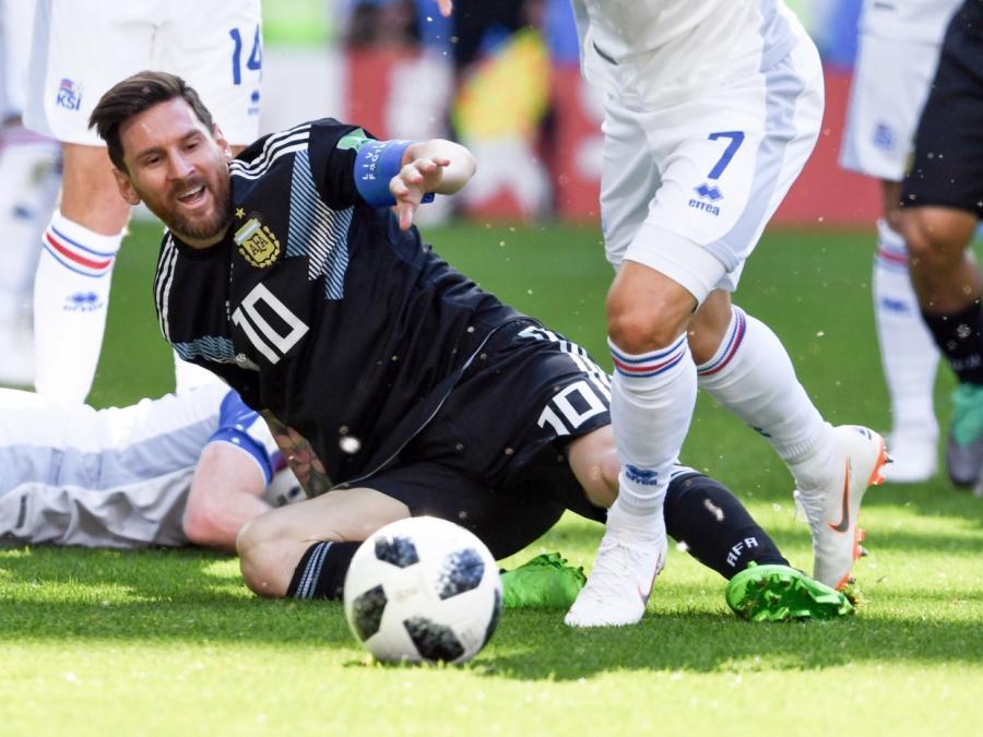 Fußball-WM: Argentinien gegen Island nur unentschieden