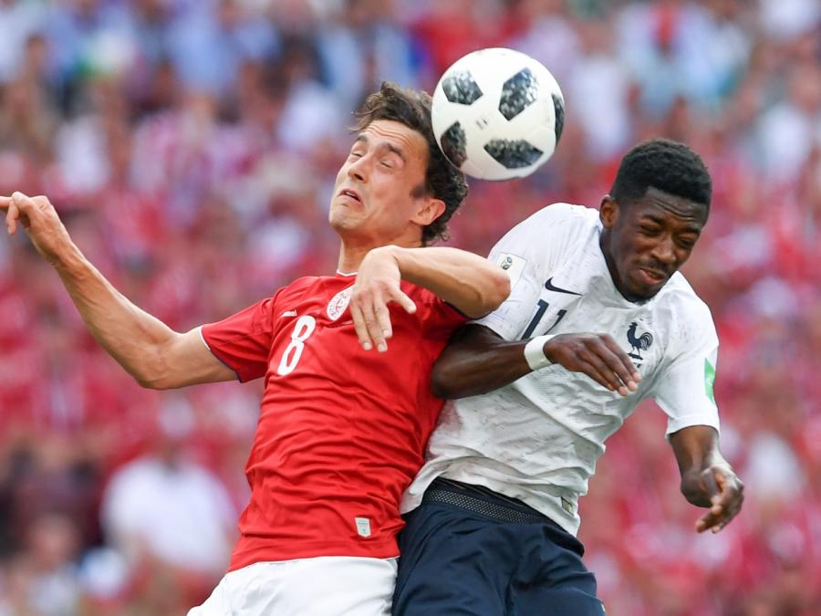 Fußball-WM: Dänemark und Frankreich kommen torlos ins Achtelfinale