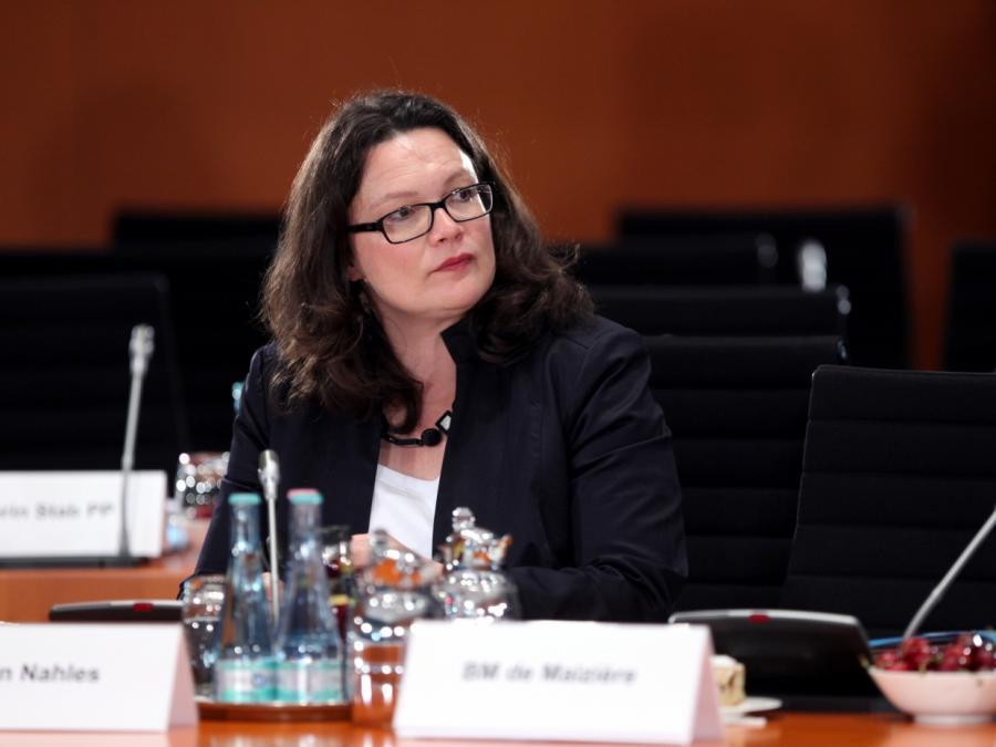 Justizministerin positioniert sich hinter Nahles
