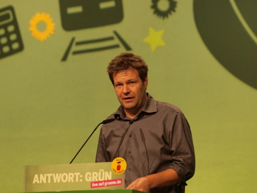 Grünen-Chef Habeck begrüßt Altmaiers Netzausbaureise