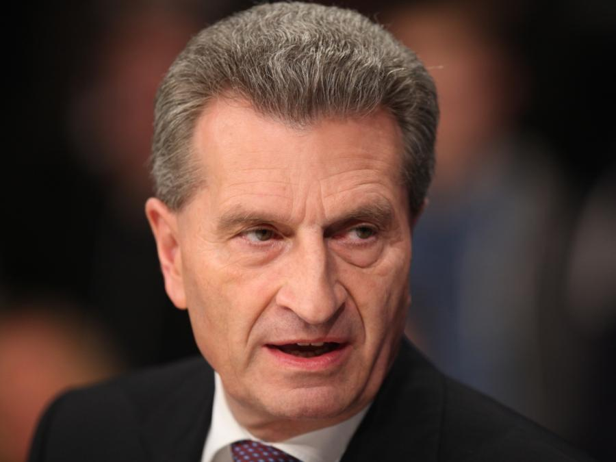 Oettinger warnt Rom vor neuer Euro-Krise