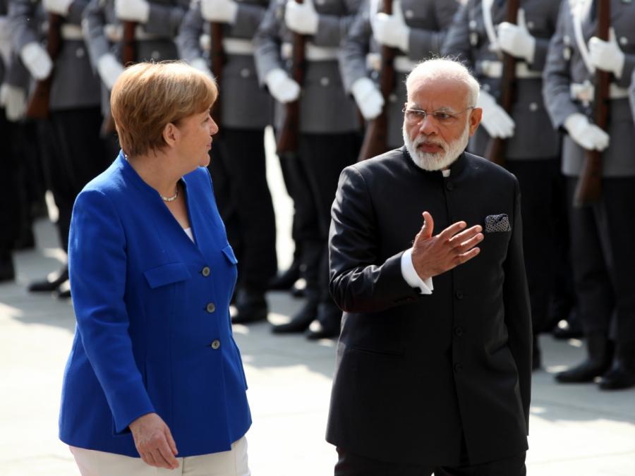 Merkel und Modi werben für engere deutsch-indische Zusammenarbeit