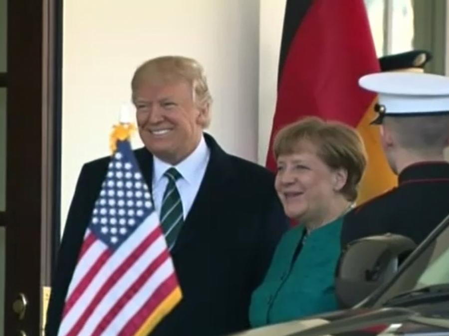 Merkel von Trump im Weißen Haus empfangen
