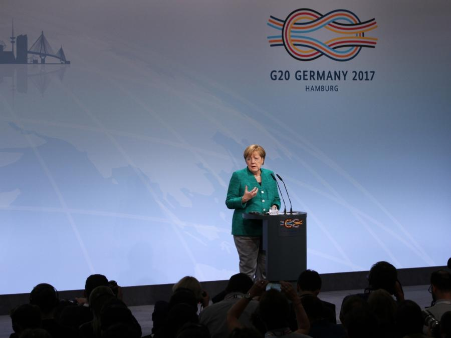 Merkel lobt G20: Abwärtsspirale verhindert
