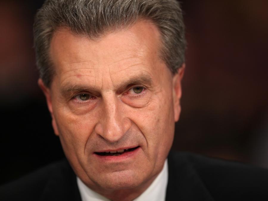 Oettinger wirft Berlin mangelndes Engagement innerhalb Europas vor