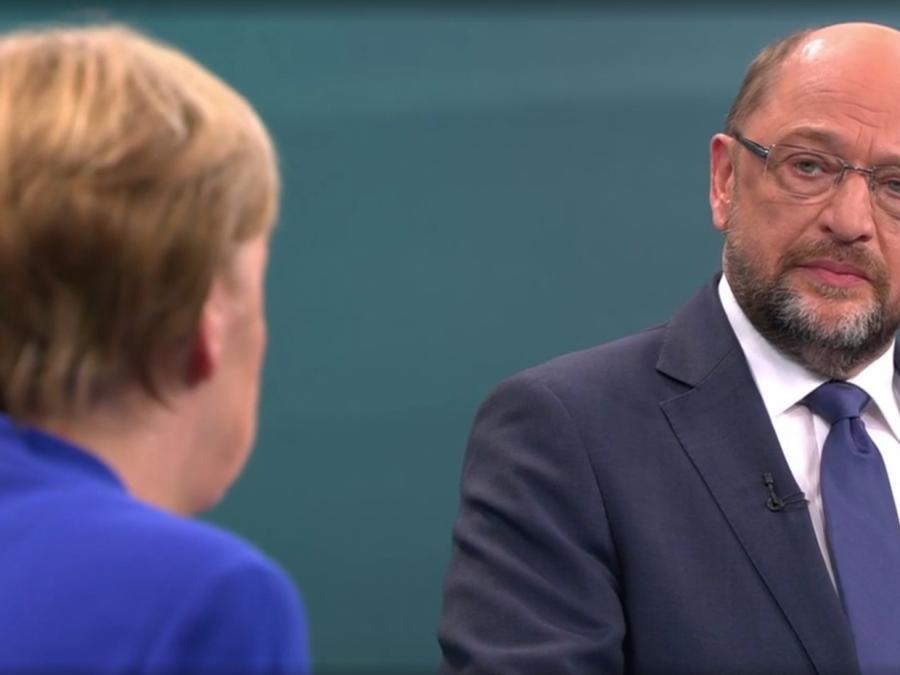 TV-Duell: Schulz will härtere Haltung gegen Türkei als Merkel