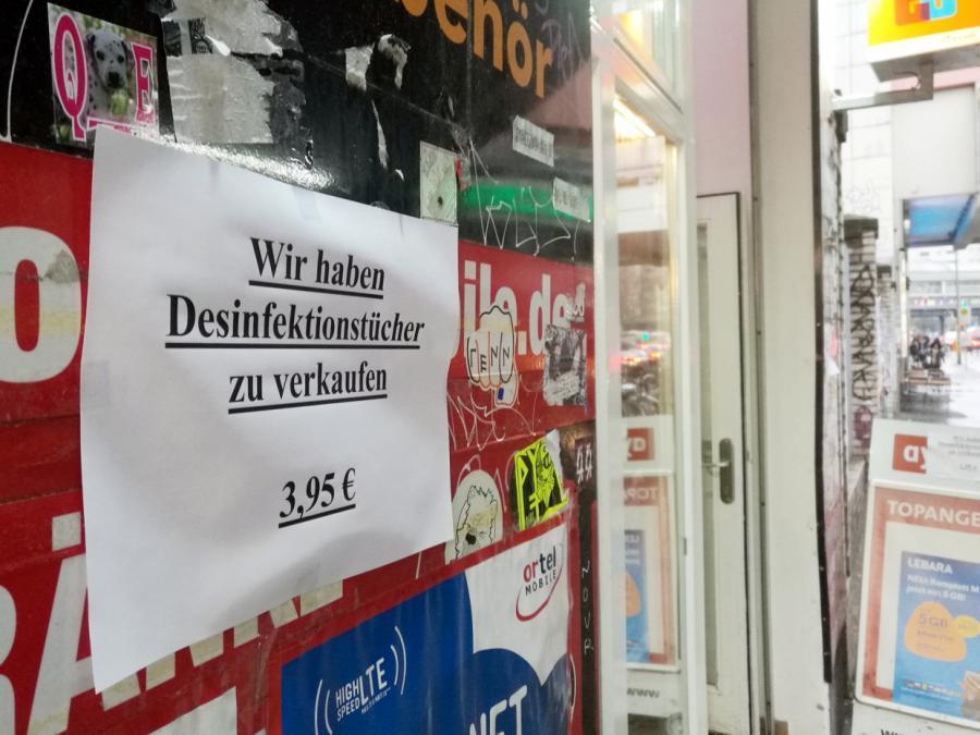Desinfektionsmittel-Produktion in Coronakrise stark gestiegen