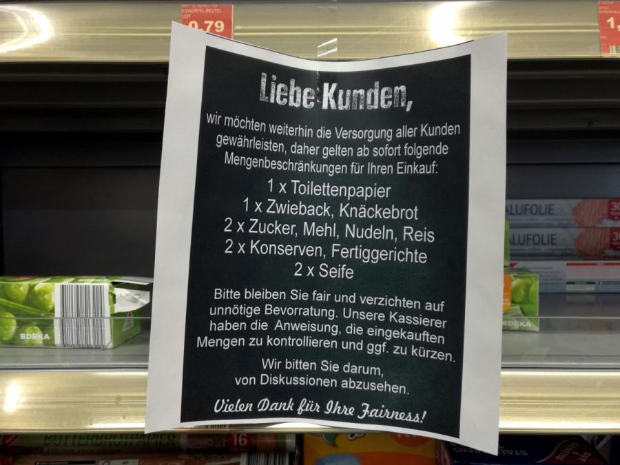Kanzleramtschef warnt Bürger vor Hamsterkäufen