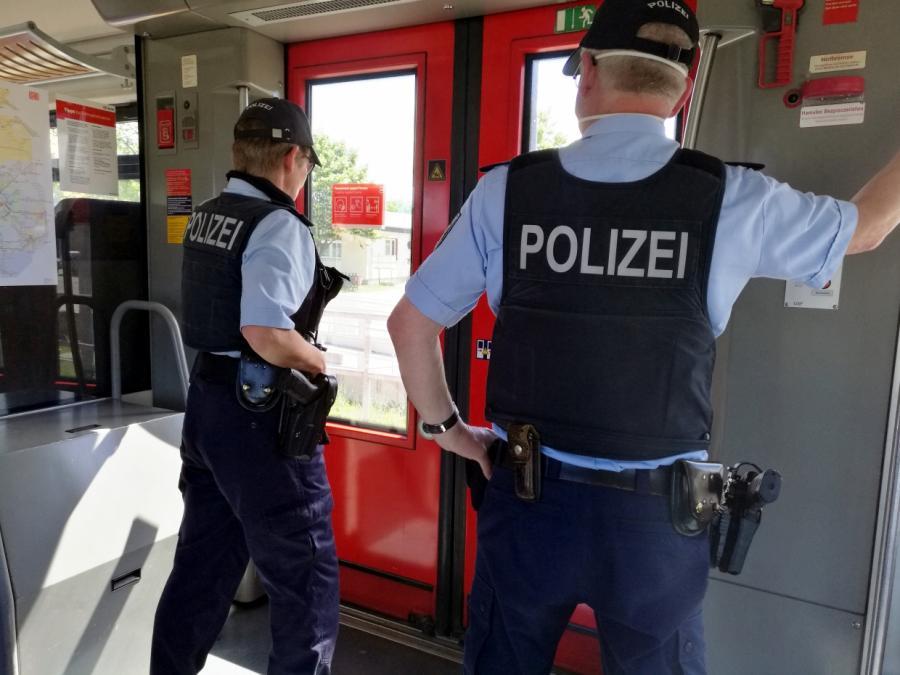 Bundespolizei in allen Zügen gefordert