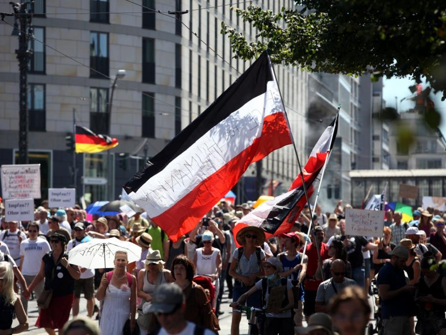 Verfassungsschutz: Wenig Rechtsextreme bei Corona-Demo