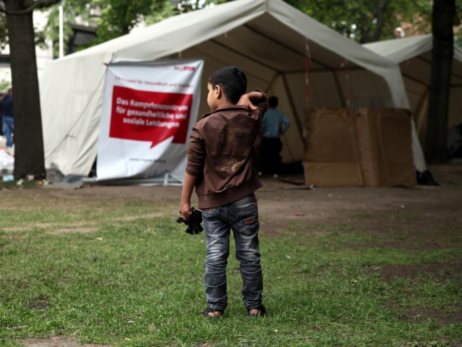 Hoher Kinderanteil unter Asylbewerbern
