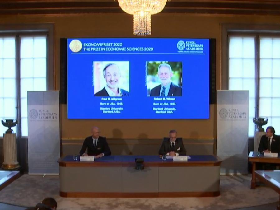 US-Ökonomen Milgrom und Wilson erhalten Wirtschaftsnobelpreis