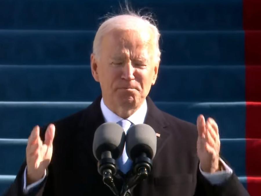 Biden hielt Antrittsrede acht Minuten zu früh