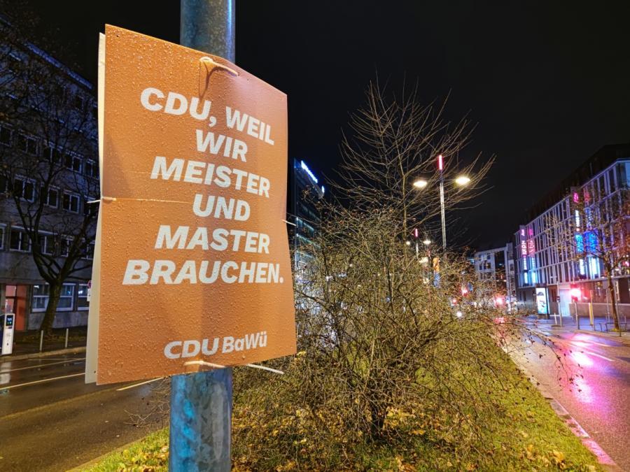 Politbarometer: CDU verliert in Baden-Württemberg deutlich